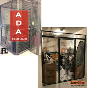 FordLogan Wire Mesh Partition & BeastWire Mesh Partition Lockers